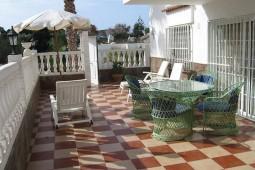 Terrasse af bungalow